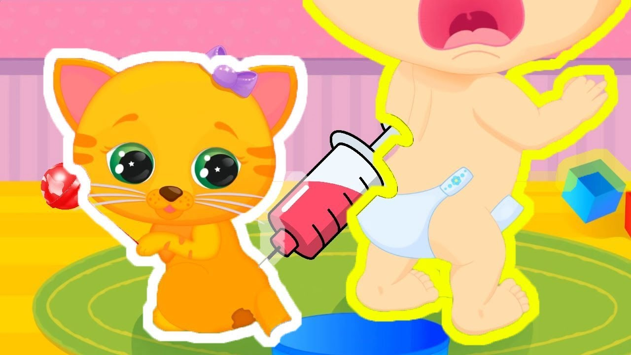 Kids can clean the bathrooms - Babe Care Funny 3d Kids Games Lily Kitty Baby Doll House Babe Bath Babe Clean Doll Clean Games