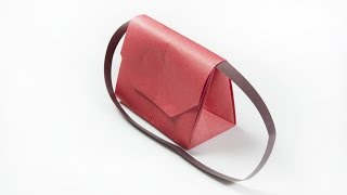 How to make a paper handbag | Origami clutch