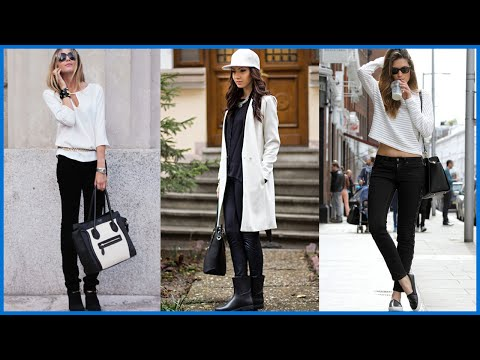 How to Wear Black and White Combinations
