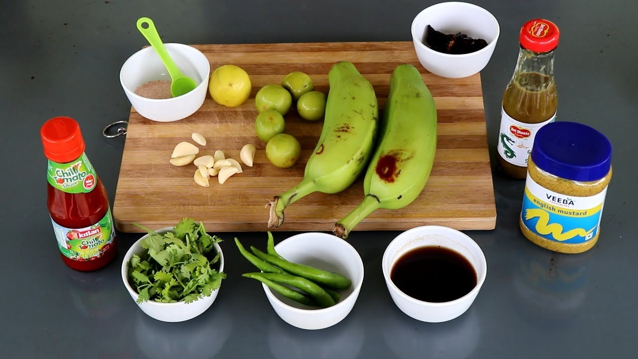 Dhaka Kacha kola vorta - Raw Green Banana Salad Recipe - Dhaka Street Food  Recipe