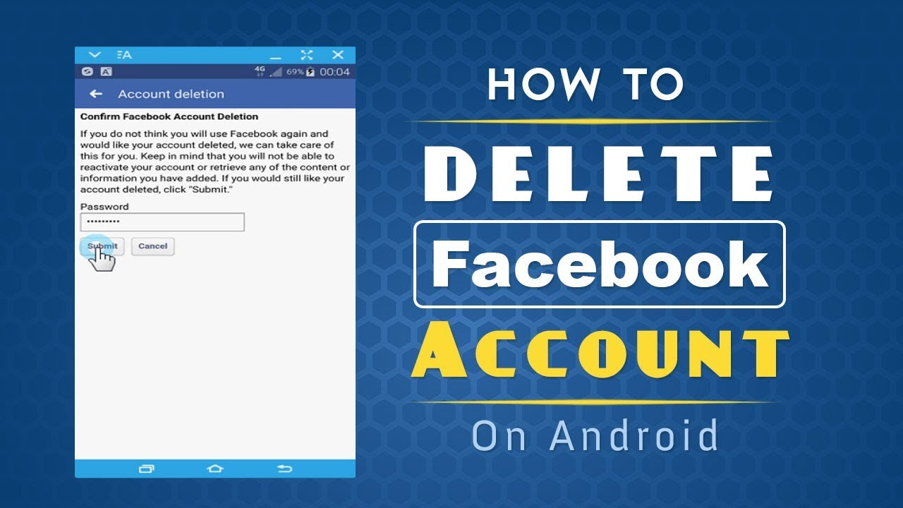 how to delete zoosk account on android