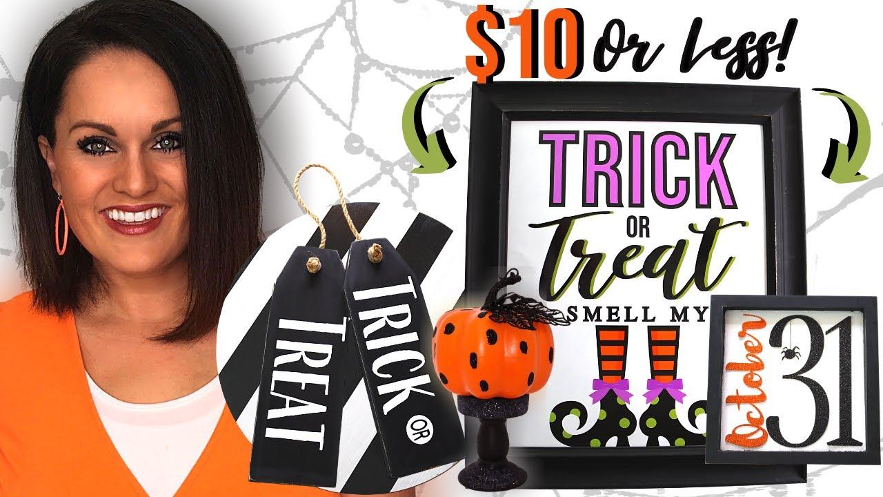 ⭐️5 Way COOL, Dirt CHEAP Halloween DIY DECOR Ideas on a Budget!