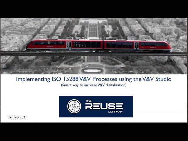 Implementing ISO 15288 V&V Processes using the V&V Studio