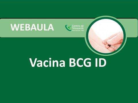 Webaula - Vacina BCG ID