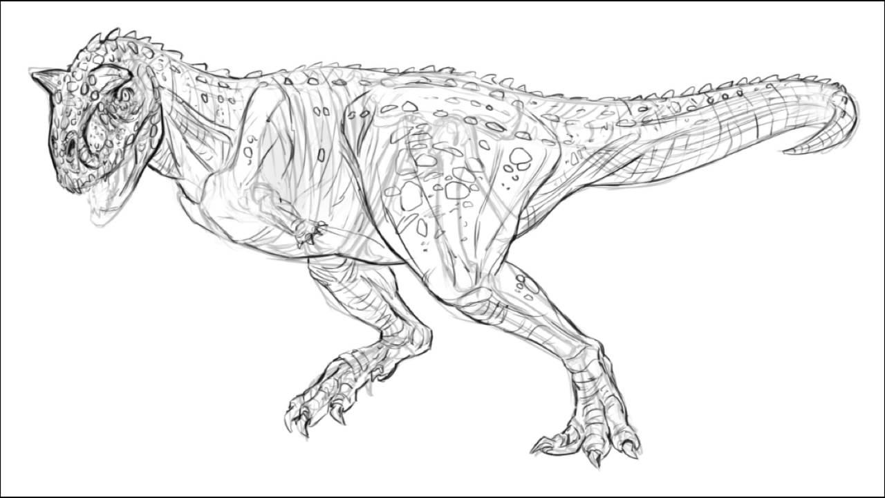 carnotaurus  drawing demo