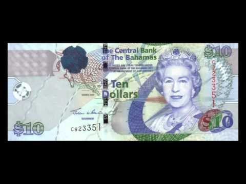 All Bahamian Dollar Banknotes - 2005 to 2013 Central Bank Issues