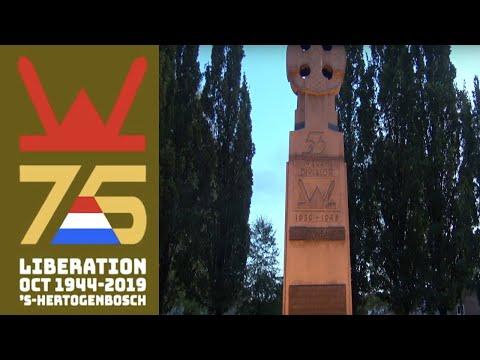 75 jaar Bevrijding 's Hertogenbosch - Herdenking Welsh monument/memorial Welsh monument