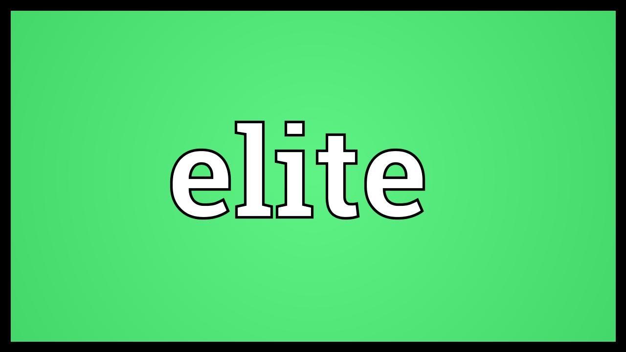 Elite meaning in urdu