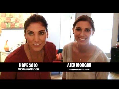 Hope Solo & Alex Morgan Just Dance Summer Party