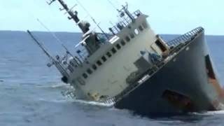 Ship Sinking - Sea Shepherd Rescues Crew of Sinking Vessel