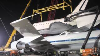 Space shuttle Endeavour detaches from Boeing 747: Timelapse