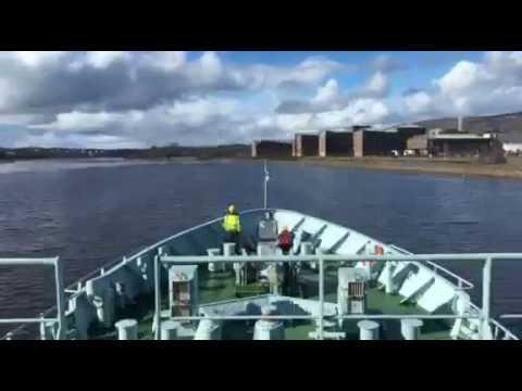 Minna leaving port
