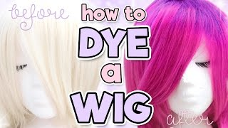 HOW TO DYE A SYNTHETIC WIG | Alexa