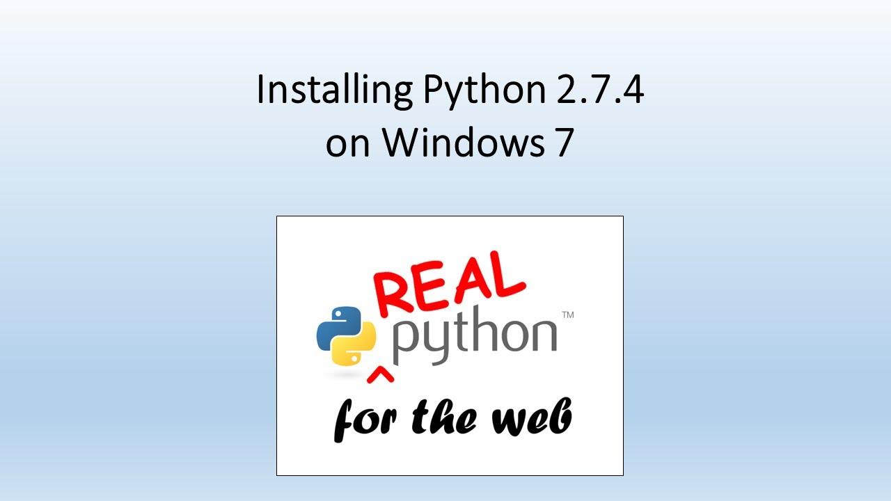 python download 2.7.4