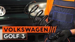 Vgradnja zadaj levi desni Vzmeti VW GOLF III (1H1): brezplačne video