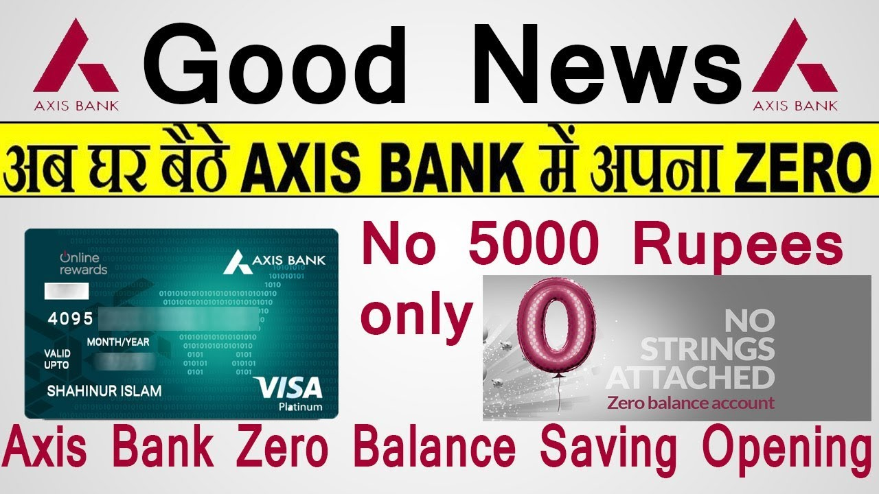 axis bank basic savings account online