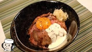 Roast Beef Rice Bowl♪ ~with triple sauce~ ローストビーフ丼♪