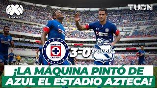 ¡Qué golazos! La máquina goleó al Puebla en su regreso al Azteca | CruzAzul 3-0 Puebla - 2018 | TUDN