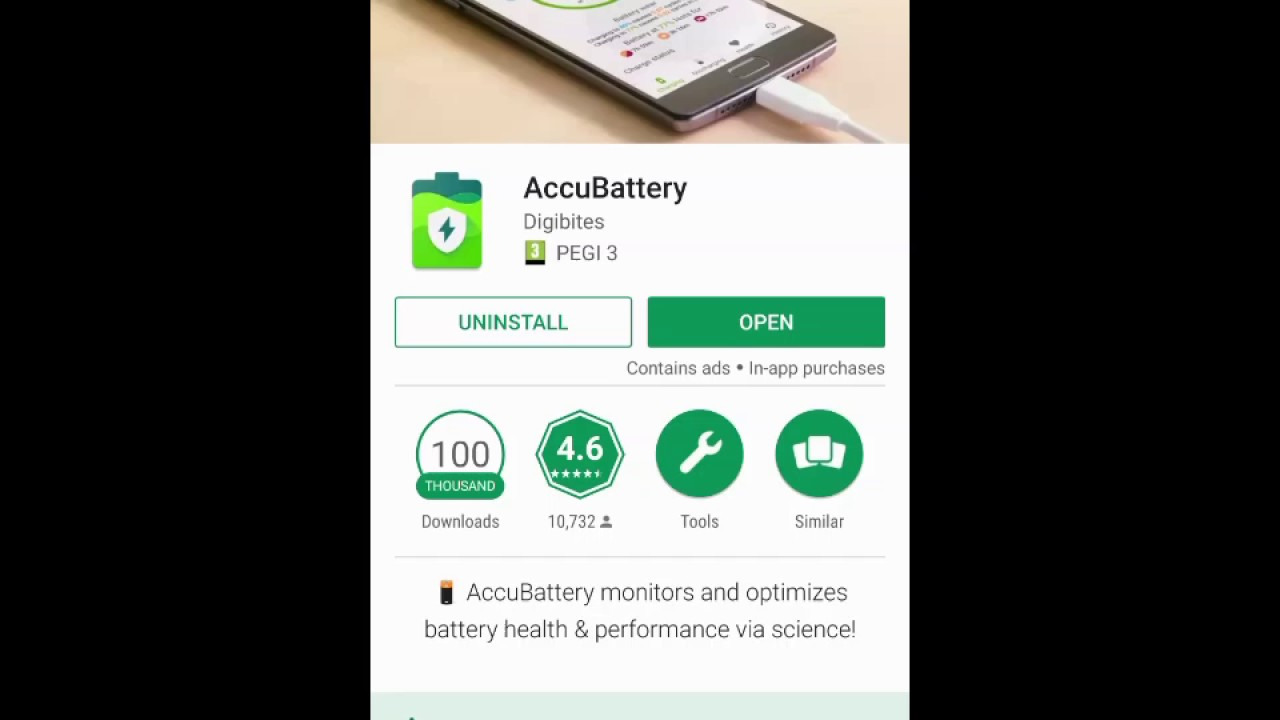 AccuBattery for Android - Test Routinely Your Phone Battery Health