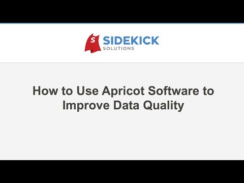 How to Use Apricot Software to Improve Data Quality