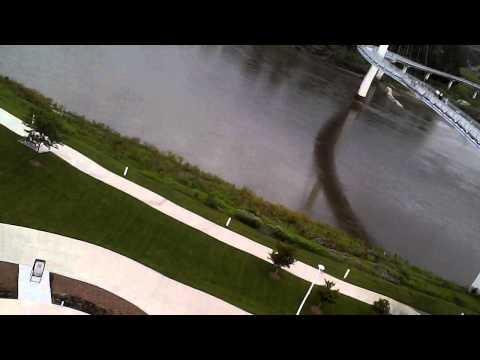 downtown Omaha Nebraska by drone Syma x5c