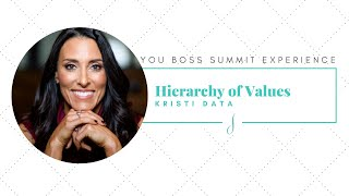 Hierarchy of Values with Kristi Data