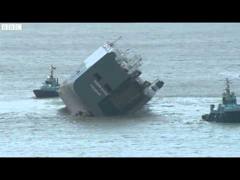 Stranded Hoegh Osaka cargo ship 'not loaded properly'   BBC News