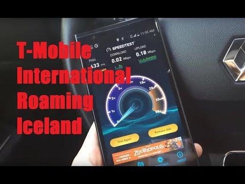 T-Mobile International Roaming In Iceland! (Data, Web, Navigation)