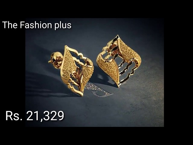 Gold Earrings |Studs Designs With Price from Bluestone