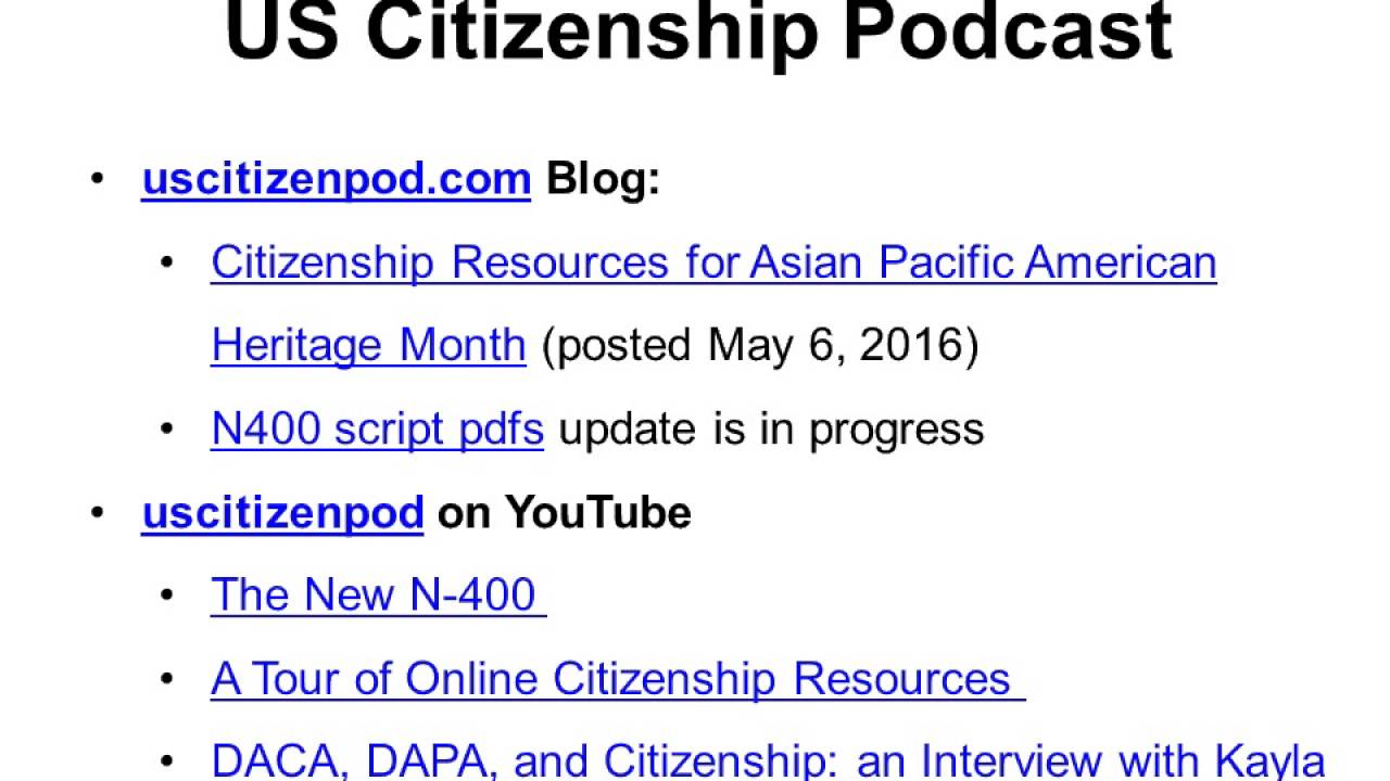 2016-05-17 Citizenship and Immigration News - YouTube