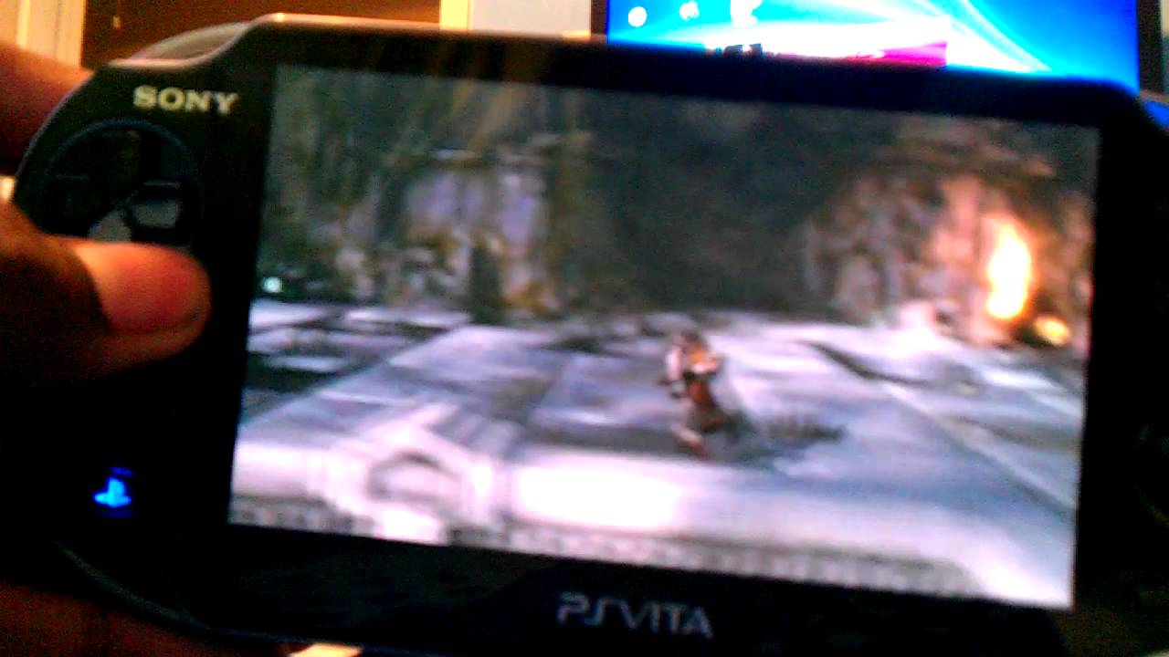 God of war 3 on playstation vita (remote play) - YouTube