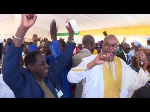 IBK supporters in Bamako celebrate his presidential win