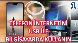 3. TELEFON INTERNETINI USB ILE BILGISAYARDA KULLANIN