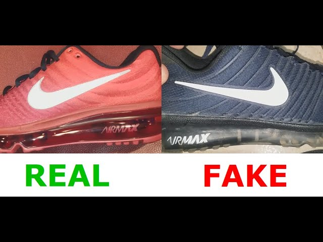 Nike Airmax 2017 real vs fake. How to spot counterfeit Air 2017 ...