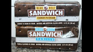 Blue Bell Ice Cream Sandwich: Cookies 'N Cream & Vanilla Review