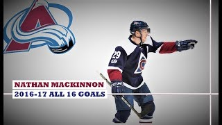 Nathan MacKinnon (#29) ● ALL 16 Goals 2016-17 Season (HD)