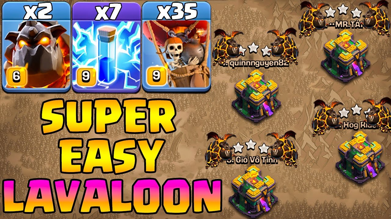 Lavaloon Attacks Are Super Easy With Zap !! 2 Lava + 7 Zap + 35 Balloon - Th14 Attack Strategy 2021