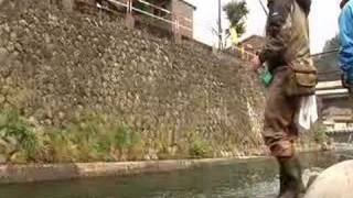 川との共生を目指して渓流釣り大会