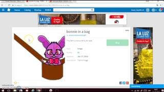 How to make your own bags for your avatar (Roblox 2017)