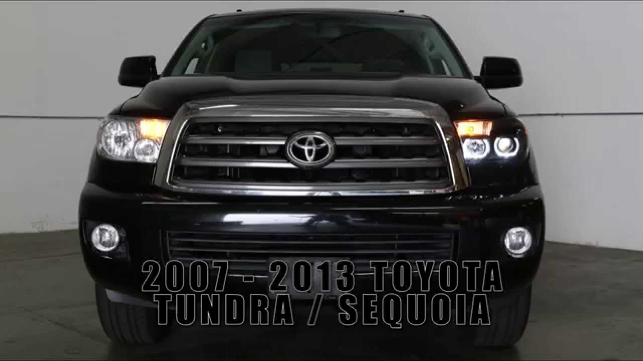 07 13 Toyota Tundra Led Halo Projector Headlight