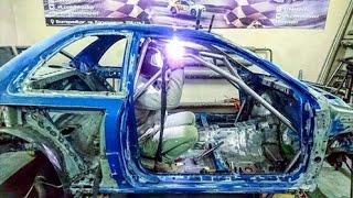 Force Dreams - Replica Subaru WRC - First steps. The safety cage welding.