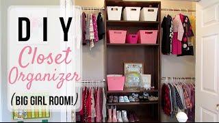 DIY CLOSET ORGANIZER Toddler Big Girl Room!