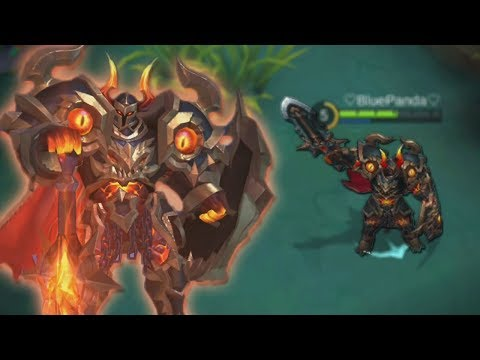 NEW Tigreal SKIN Gameplay (Fallen Guard) Mobile Legends