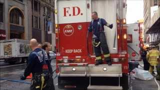 FUEL SPILL, FDNY DECONTAMINATION OPERATIONS, FDNY HAZMAT 1, FDNY ENGINE 4, 44, NYPD, FDNY EMS.