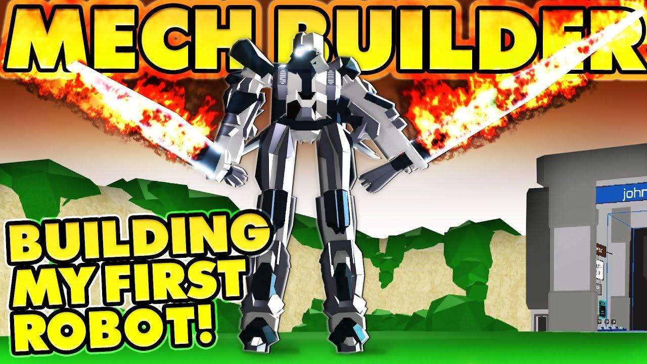 Roblox Mech Games Building My First Robot Roblox Mech Builder Youtube
