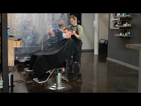 Back In Business: Barber Shops, Salons Reopen With High Demand