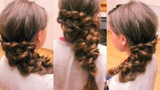 Причёска на бок. Красивые причёски. Видео-урок.