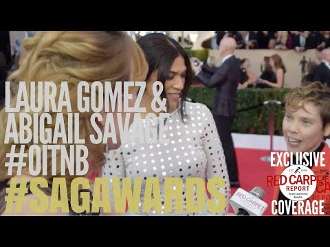 Laura Gomez & Abigail Savage OitNB  at 24th Screen Actors Guild Awards Red Carpet
