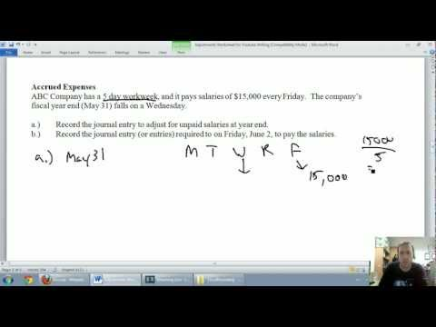 Accounting - Unit 3 - Part 3: Accrued Expenses
