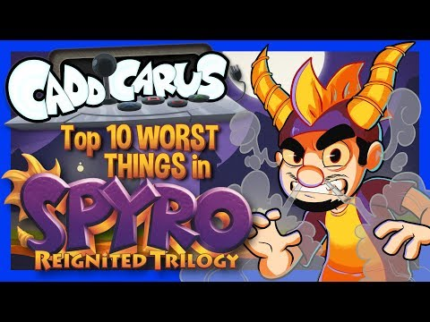 Top 10 WORST Things in Spyro Reignited Trilogy! - Caddicarus